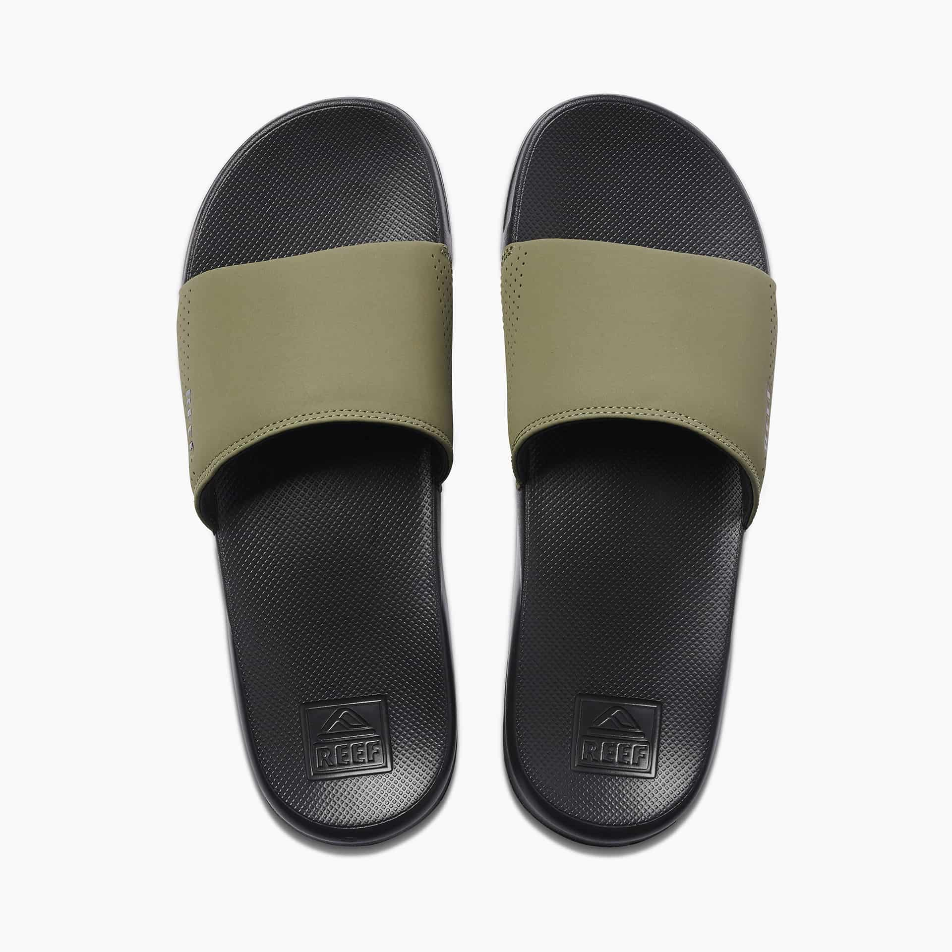 REEF ONE SLIDE BLACK/OLIVE