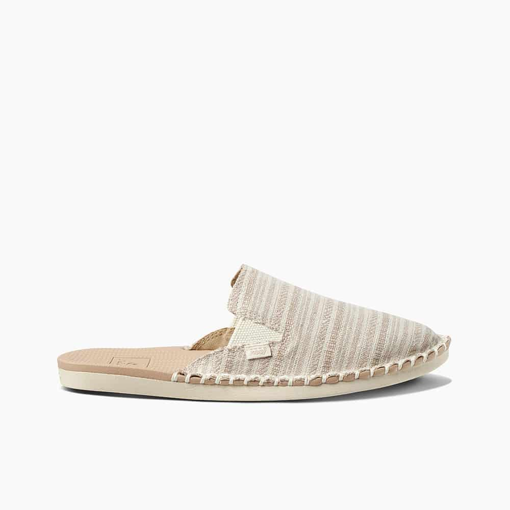 REEF ESCAPE MULE KHAKI STRIPES