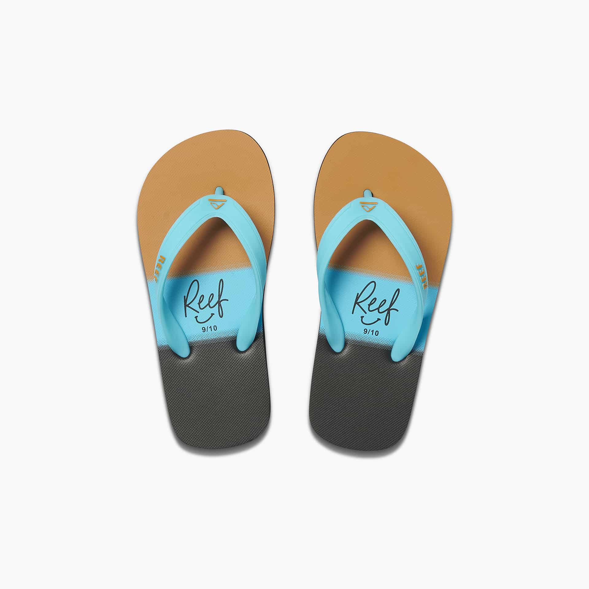 KIDS SWITCHFOOT PRINT AQUA GOLD