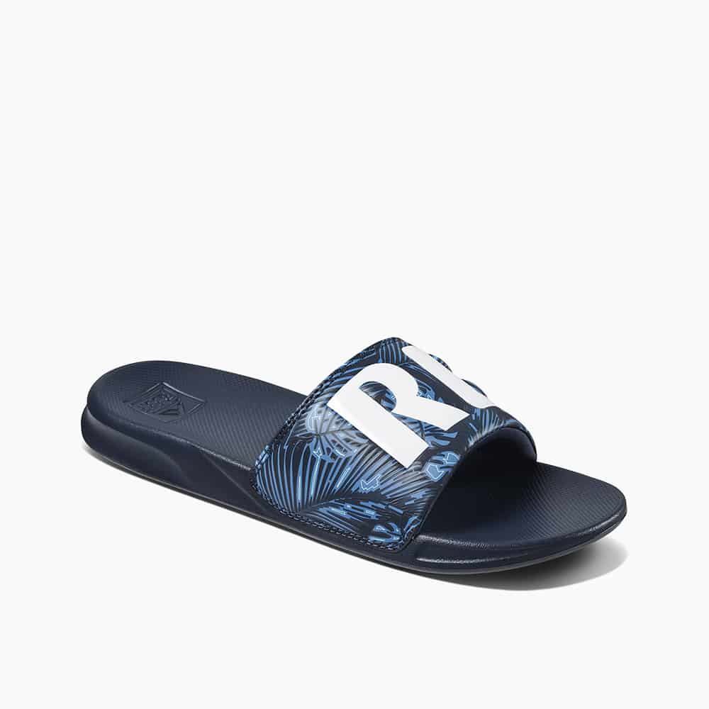 REEF ONE SLIDE NAVY PALM