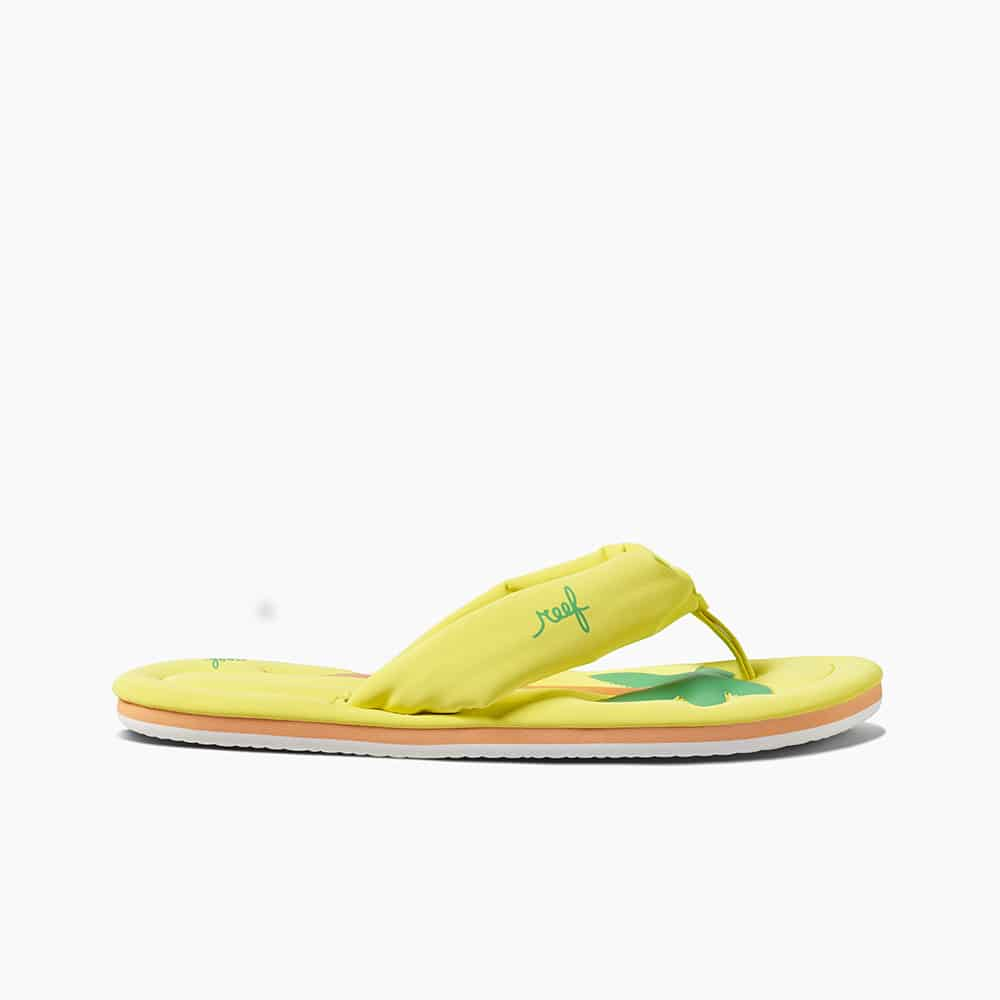 REEF POOL FLOAT YELLOW PALM